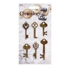 Embellishments / Verzierungen Key metal, 6 stykker, Kronologi