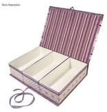 Objekten zum Dekorieren / objects for decorating Pappmaché-Klappdeckel-Box, 29,5x22x6,5 cm, 3 Innenteile lose
