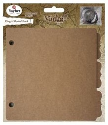 Scrapbooking ... 1 Vintage Ring Binder, 16,1x15,2cm