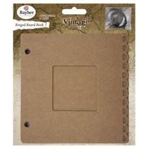 Ring Binder m. Passepartout raam, 15,2x15,2cm