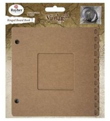 Scrapbooking ... Ring Binder m. Passepartout vindue, 15,2x15,2cm