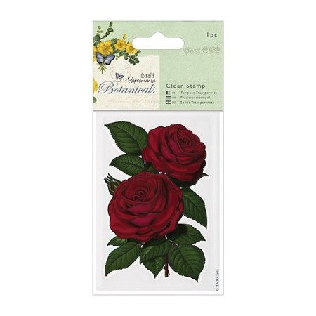 Docrafts / Papermania / Urban Gummi Stempel, Rose (Botanicals)