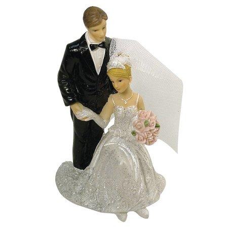 Embellishments / Verzierungen Polyresin-Brautpaar, 12 cm