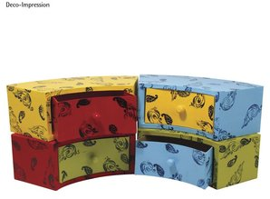 Objekten zum Dekorieren / objects for decorating Cassettiera cartapesta, 30x12x10 cm, a metà turno 1 cassetto