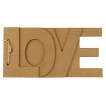 Paper mache book LOVE