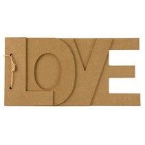Papier mache boek LOVE