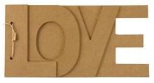 Objekten zum Dekorieren / objects for decorating Papmache bog LOVE