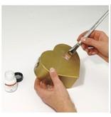 BASTELZUBEHÖR / CRAFT ACCESSORIES Deco-Metall-Anlegemilch, dünnflüssig, Flasche 25 ml