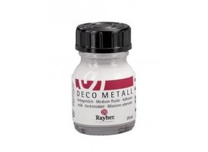 BASTELZUBEHÖR / CRAFT ACCESSORIES Deco dorado metal, delgada, Frasco 25 ml