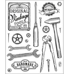 Viva Dekor und My paperworld Transparent stamps, vintage tools