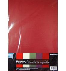 DESIGNER BLÖCKE  / DESIGNER PAPER Creative Board, varm farve, 25 ark