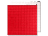 Designer Papier Scrapbooking: 30,5 x 30,5 cm Papier Scrapbooking Paper: Small dots red