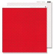 Papel Scrapbooking: pequeños puntos de color rojo
