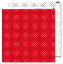 Designer Papier Scrapbooking: 30,5 x 30,5 cm Papier Scrapbooking Paper: piccoli puntini rossi
