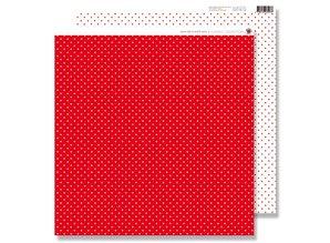 Designer Papier Scrapbooking: 30,5 x 30,5 cm Papier Scrapbooking Papir: Små prikker rød