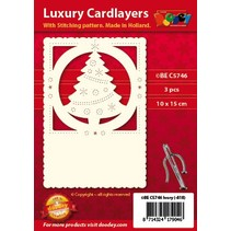 Lujo tarjeta 1Ajuste capa con 3 cartas, 10 x 15 cm