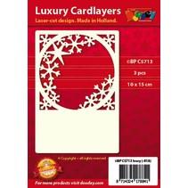 Luksus kort Pad 1Indstil med 3 kort, 10 x 15 cm
