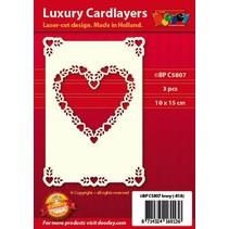 Luxus Kartenunterlage 1Set mit 3 Karten, 10 x 15 cm