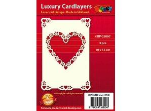 KARTEN und Zubehör / Cards Carta di lusso strato 1Posizionare con 3 carte, 10 x 15 cm