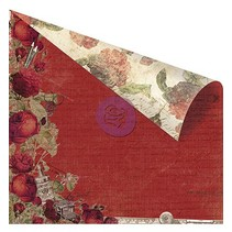 "Double-sided printed designer paper, ""Red Romance"""