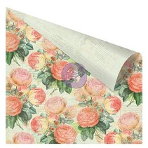 "Double-sided printed designer paper, ""Pink Roses"""