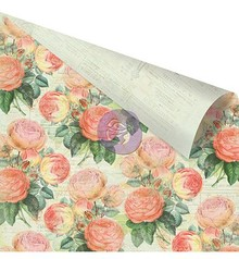 "Prima Marketing und Petaloo Dobbeltsidet trykt designer papir, ""Pink Roses"""