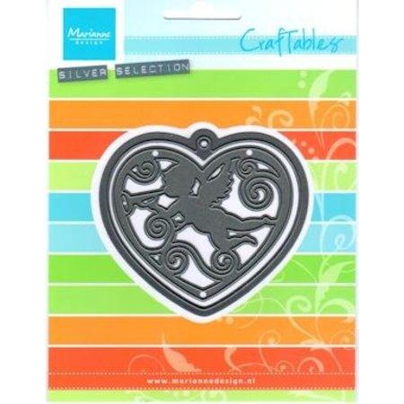 Marianne Design Punzonado - y cliché de estampado, Filigranes corazón con ángel