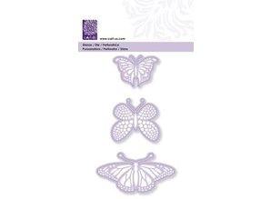 Cart-Us Punching and embossing template, 3 butterflies, 45-48-76 mm