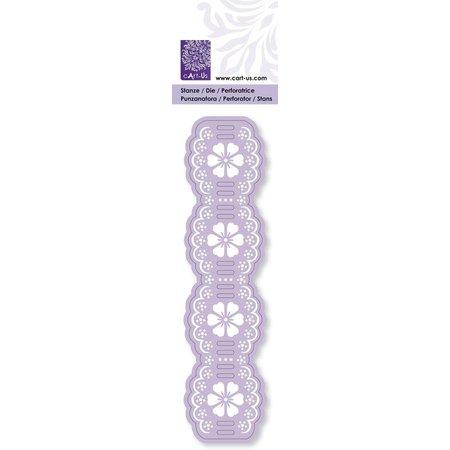 Cart-Us Stanzen- und Prägeschablone, Flechtbordure Blume, 38 x 152 mm