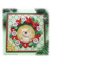 Leane Creatief - Lea'bilities Stamping and Prägeschbalone, Leabilities, Wreath