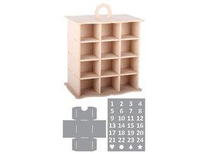 Objekten zum Dekorieren / objects for decorating cabinet 3D Calendario dell'Avvento + 2 stencil