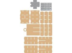 Objekten zum Dekorieren / objects for decorating 3D kabinet Julekalender + 2 Stencils