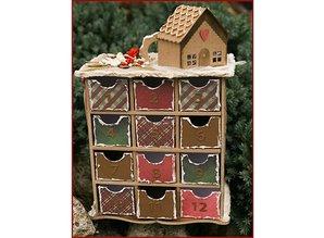 Objekten zum Dekorieren / objects for decorating mueble 3D Adviento Calendario + 2 Plantillas