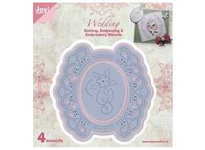 Joy!Crafts und JM Creation Cutting and embossing stencil template multi embroidery!