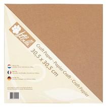 papel kraft, 30,5 x 30,5 cm, 300 g, 20 hojas