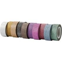 Zelfklevende tape met glitter oppervlak