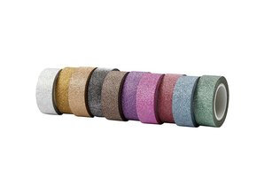 DEKOBAND / RIBBONS / RUBANS ... Self-adhesive tape with glitter finish in 10 different. Suits of 6 m