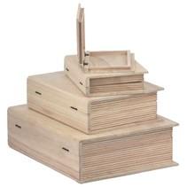 Holzschachtel in Buchform in 4 verschiedenen Größen
