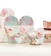 "Dekoration Schachtel Gestalten / Boxe ... Craft set for 14 packages ""Shabby Chic"""