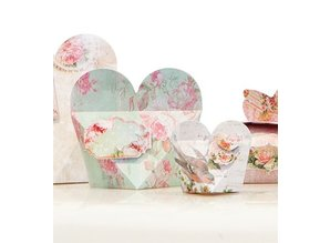 """Dekoration Schachtel Gestalten / Boxe ... Craft set for 14 packages """"Shabby Chic"""""""