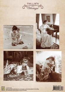 Nellie snellen Vintage Images - A4 sheet