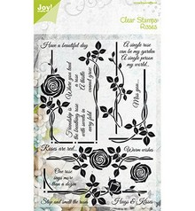 Joy!Crafts und JM Creation Transparent stamps, rose motifs