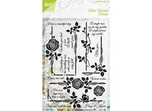 Joy!Crafts und JM Creation Transparent stamps, rose motifs