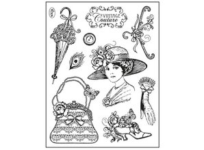 Viva Dekor und My paperworld Clear stamps, Vintage Couture