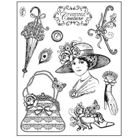 Viva Dekor und My paperworld Clear stamps, Vintage Couture