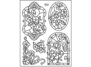 Viva Dekor und My paperworld Clear stamps, Tiffany Window