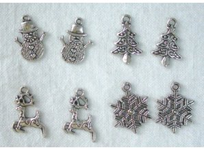 Embellishments / Verzierungen Metal - Charms 4x2 st. Winter