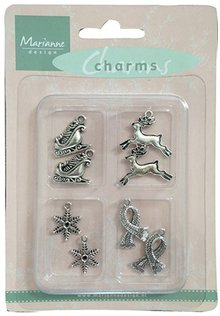 Embellishments / Verzierungen Metal - Charms 4x2 st. Vinter