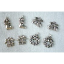 Metal - Charms 4x2 st. Invierno