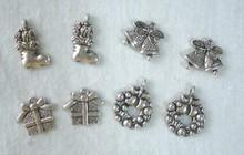 Embellishments / Verzierungen Metallo - Charms 4x2 st. Inverno